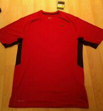 Nike Hombre Rojo Running Entrenamiento Camiseta Top Small