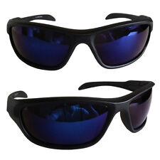 EAKS® Herren Designer Sport / Biker / Gangster Sonnenbrille blau verspiegelt