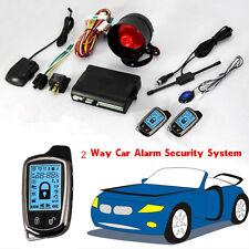 Universal 2 vías coche alarma sistema de seguridad con controladores sin llave de larga distancia