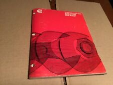 Cummins shop manual  V-378, VT 504   Automotive,CONSTRUCTION,INDUSTRIAL