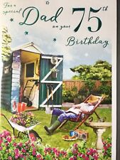 Dad 75th Birthday Card