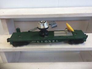 8-148b LIONEL NO.3509 AUTOMATIC SATELLITE LAUNCHING CAR  w/ORIGINAL SATELLITE!!!