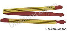 Sword Slings Long & Short Gold 2 Black Stripe on Red Leather - R1439