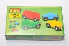 Brio MINICARS (Rimmed Wheels, 1987)  MODEL 33320 / Very rare BRIO vehicles set