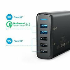 Anker PowerPort 63W 5-Port USB Wall Charger with Dual Quick Charge 3.0 Ports