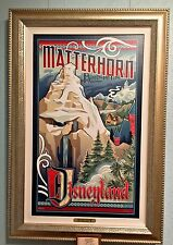 Disneyland Resort Matterhorn Bobsled LE Giclee on Canvas Jeff Granito New