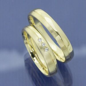 Trauringe, Eheringe, Hochzeitsringe mit schräg umlaufender Glanzrille P9165703