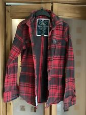 Womens Superdry Red Checked Shirt - Size S