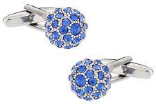 Sapphire Blue Ball Cufflinks