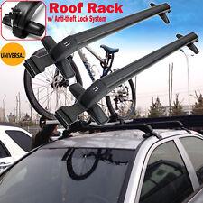 Universal Roof Rack Cross Bar Anti-Theft for 4 or 5 Door Car No Rail 43'' Pair
