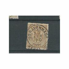 "Nederland  17  ""GRAVENHAGE 1870"" franco-takje  VFU/gebr  CV 25 €"