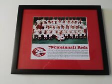 1975, Cincinnati Reds team photo.. Matted and Framed..NEW!