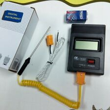K Type Temperature Meter Digital Thermometer Thermocouple Probe Detector