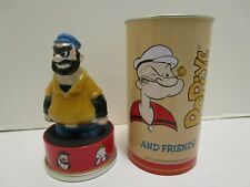 1994 FOSSIL POPEYE AND FRIENDS BRUTUS PORCELAIN WATCH HOLDER & TIN