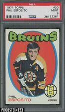 1971 Topps Hockey #20 Phil Esposito Boston Bruins HOF PSA 9 MINT