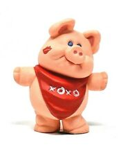Rare 1989 Pig With Xoxo On Red Scarf Merry Miniature Ornament - Really Cute Wow
