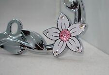 Pink bling license plate frame Sweet Lt. Rose Pink Swarovski Crystals Flowers MM