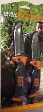 Bear Grylls Gerber Survival Sheath Folder & Scout 2 Knife Set Hunting Camping