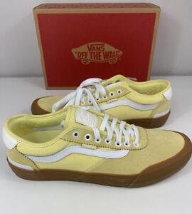 Vans Chima Pro 2 Gum Pale Banana Yellow White Size 11.5 Men's VN0A3MTIUZ5 - New