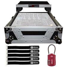 "ProX Xs-M12Lt Large Format 12"" Dj Mixer Case with Red Tsa Lock"