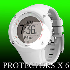Suunto Ambit 3 RUN White watch face protector x 6 protection