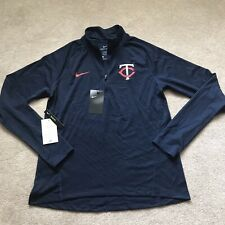 Women's Medium Minnesota Twins Nike Qtr Zip Pullover New With Tags NWT