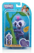 WowWee FINGERLINGS Baby Sloth MARGE Interactive Toy (Purple)