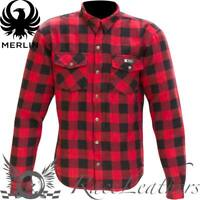 MERLIN AXE RED CHECK K.E.V.L.A.R ARAMID LINED MOTORCYCLE MOTORBIKE SUMMER TOP