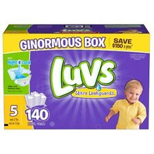 140ct Luvs Ultra Leakguard Disposable Baby Diapers Sz 5 (27-35 LB) Free Shipping