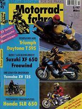 Motorradfahrer 1997 3/97 KTM 125 LC 2 Yamaha SR 500 XV 125 Virago Suzuki XF 650