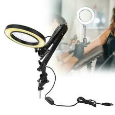 Dimmbar 8W 5X LED Lupe Lupenleuchte Lupenlampe USB Eyeliner Tattoo Tischleuchte