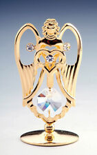 Angel FIGURINE - FREE STANDING 24K GOLD WITH AUSTRIAN CRYSTALS
