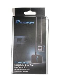 Flashpoint Speedlight Shoe Cord for Canon EOS TTL Off Camera
