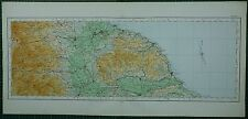 1922 LARGE MAP NORTH RIDING MIDDLESBROUGH HELMSLEY DARLINGTON WHITBY SCARBOROUGH