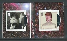 Grande-Bretagne 2017 David Bowie Adhésif Livret Paire non Montés Mint, MNH