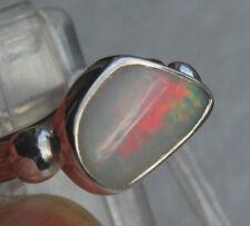 Coober Pedy Opal 1.8 Karat 950er Silberring Größe 17,2 mm