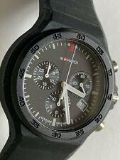 Mondaine M Watch Chronograph - Black - Swiss Made - Superb Condition