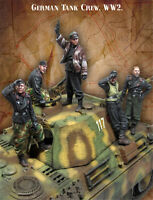 1/35 Unpainted Germany Tank Crew Set of 5 Figures Resin Kits GK Unassembled