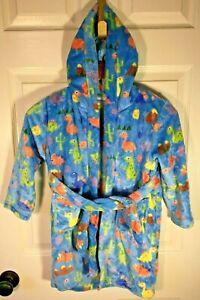 Toddler Boys 5T Cool Dinosaur Hooded Bathrobe