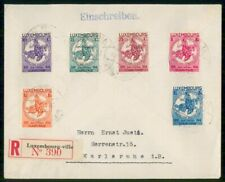 Mayfairstamps Luxembourg 1930s Caritas Registered Charity Set to Germany Cover w