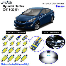 8 Bulbs LED Interior Light Kit Cool White For MD / UD 2011-2015 Hyundai Elantra