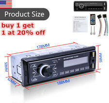 Bluetooth Car Stereo Audio In Dash FM Aux Receiver MP3 Radio Player TouchDisplay