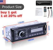Bluetooth Car Stereo Audio In Dash Fm Aux Receiver Mp3 Radio Player TouchDisplay