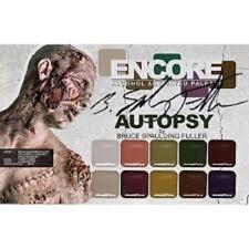 European Body Art ENCORE Palette AUTOPSY Alcohol Activated Pro Palette BNIB