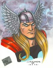 THOR CONVENTION COMMISSION DRAWN AND INKED BY J.M. LINSNER COLORED BY VARGAS