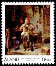 Aland 1996 Art, Karl E. Jansson Painter, 150th Anniversary, MNH / UNM
