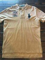 Men's M Polo Ralph Lauren Dry Goods Supply Short Sleeve Polo Shirt Large Pony