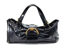 Sergio Rossi Black Patent Leather Satchel bag, Women's