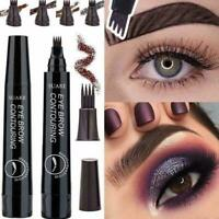 Eyebrow Liner Pen Fork Tip Eyebrow Contouring Waterproof Eye Brow Pen