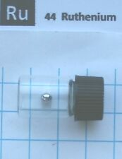0.42 gram 99,99% Ruthenium metal pellet in glass vial - Pure element 44 sample